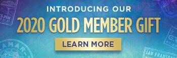 2020 Gold Member Gift banner