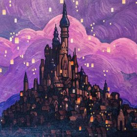 Rapunzel's Castle painting at the riviera resort