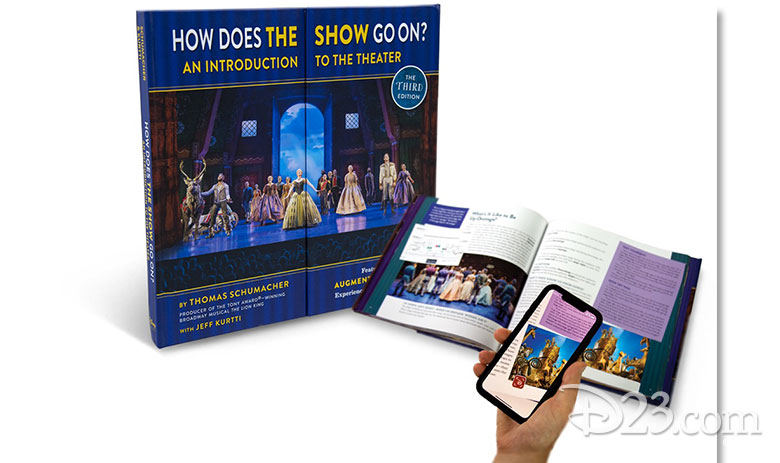 how does the show go on frozen edition book cover, book, and digital book map