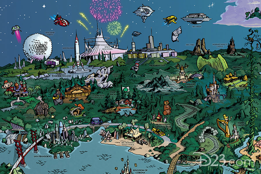 D23 Fantastic Worlds map part 1