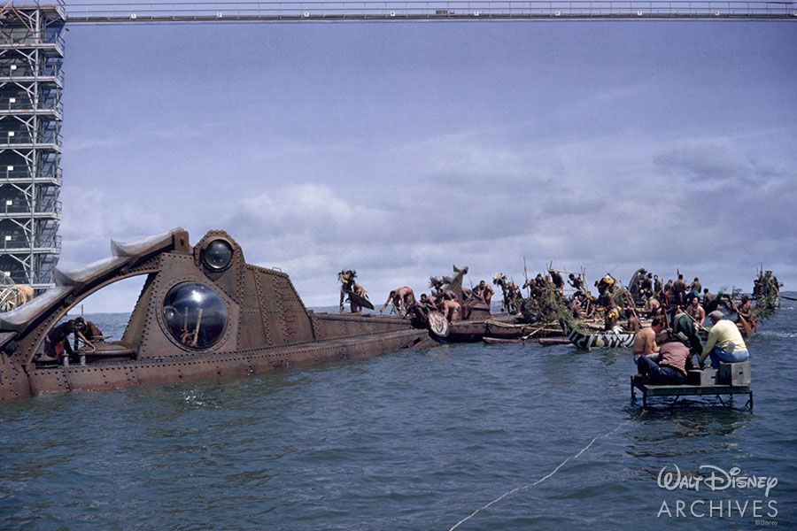 Behind the scenes photograph from 20,000 Leagues Under the Sea (1954)