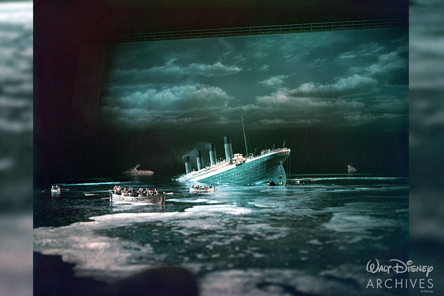 Behind the scene photograph from Titanic (1953).