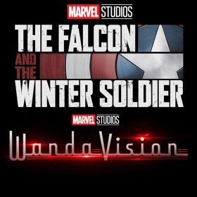 The Falcon and the Winter Soldier logo and Wandavision logo