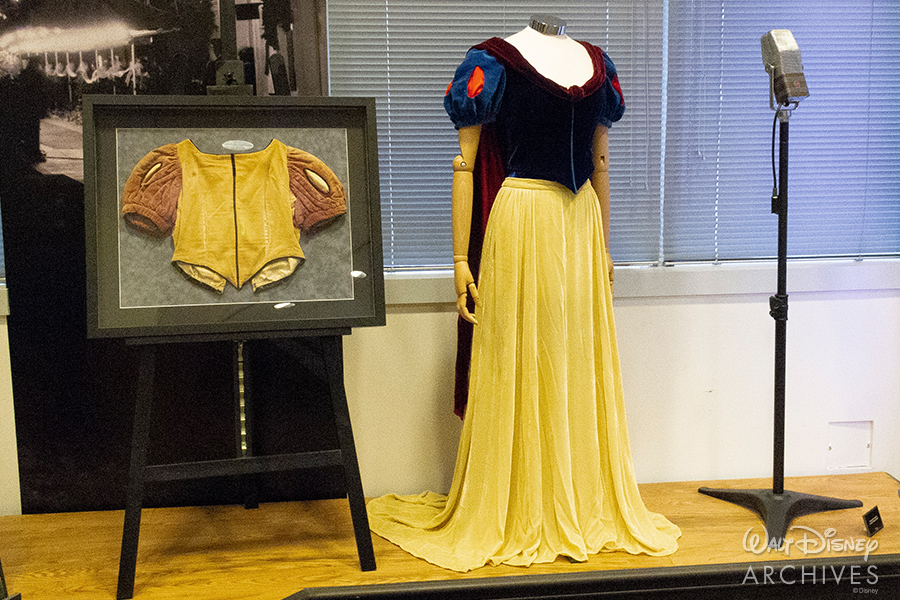 "Walt Disney Archives ""50 Years of Preserving the Magic"" Snow White live-action costumes"