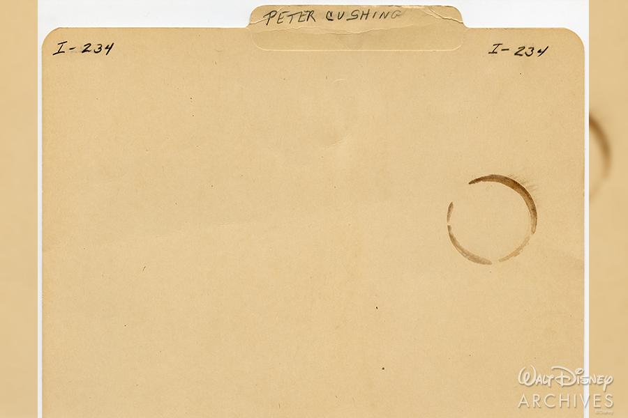 Peter Cushing folder