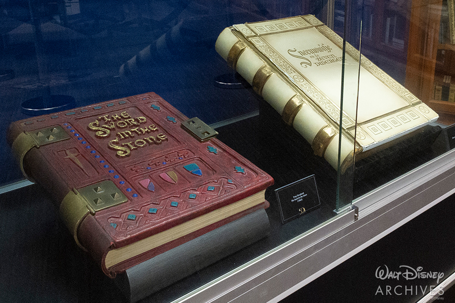 "Walt Disney Archives ""50 Years of Preserving the Magic"" Sword in the Stone and Snow White Dutch prop books"