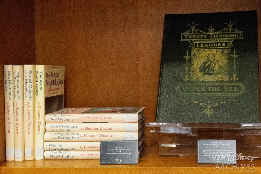 "Walt Disney Archives ""50 Years of Preserving the Magic"" Twenty Thousand Leagues Under the Sea and Eleanor Zissou book set"