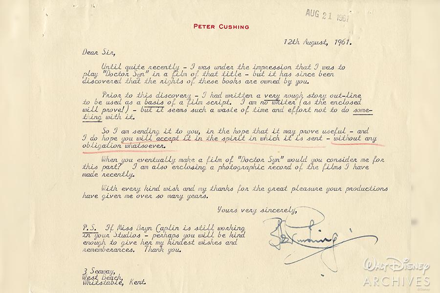Peter Cushing correspondence