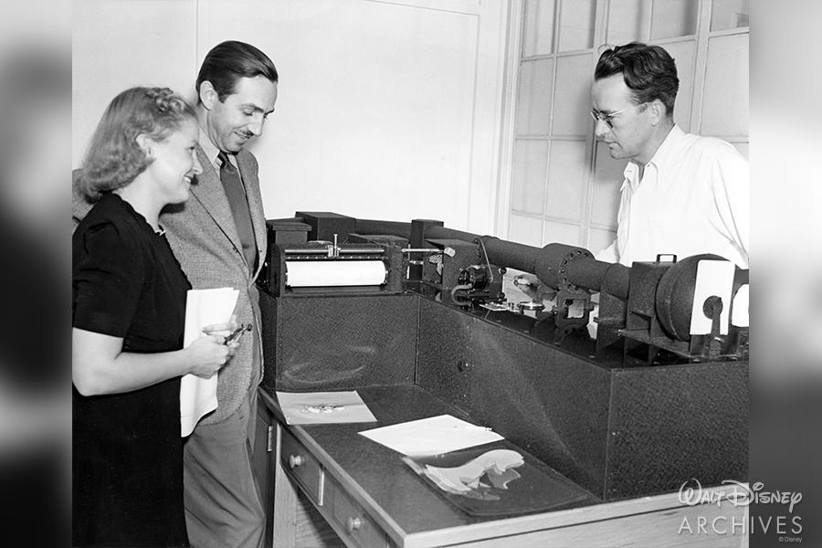 Mary Weiser, Walt Disney and Bill Garity