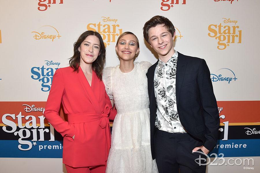 Director/screenwriter Julia Hart, Grace VanderWaal (Stargirl), and Graham Verchere (Leo)