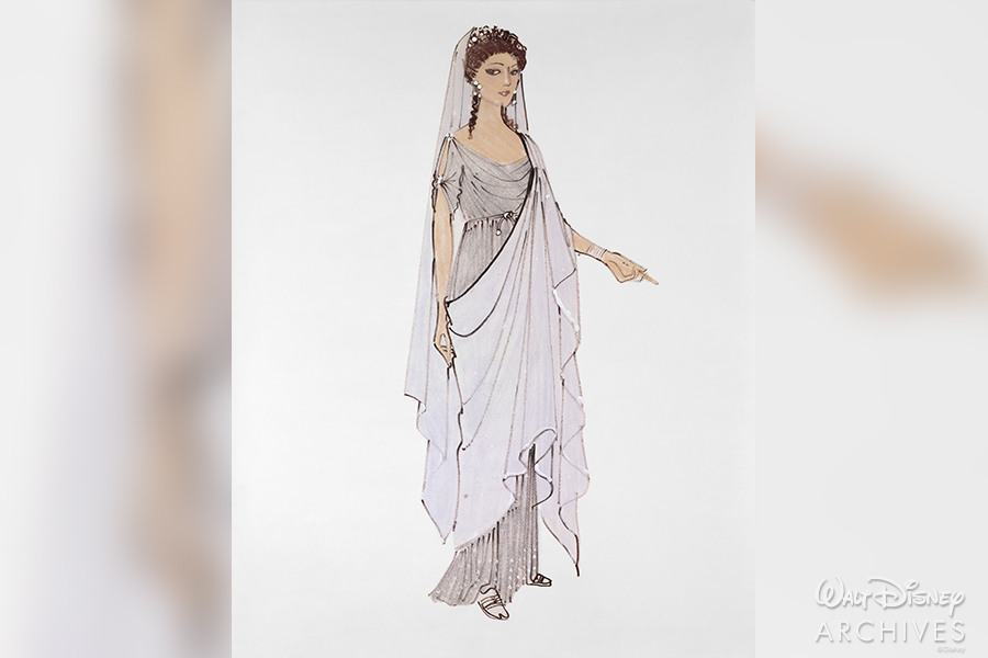 "Costume sketch designed by Renié - ""'Calpurnia'"" gown"