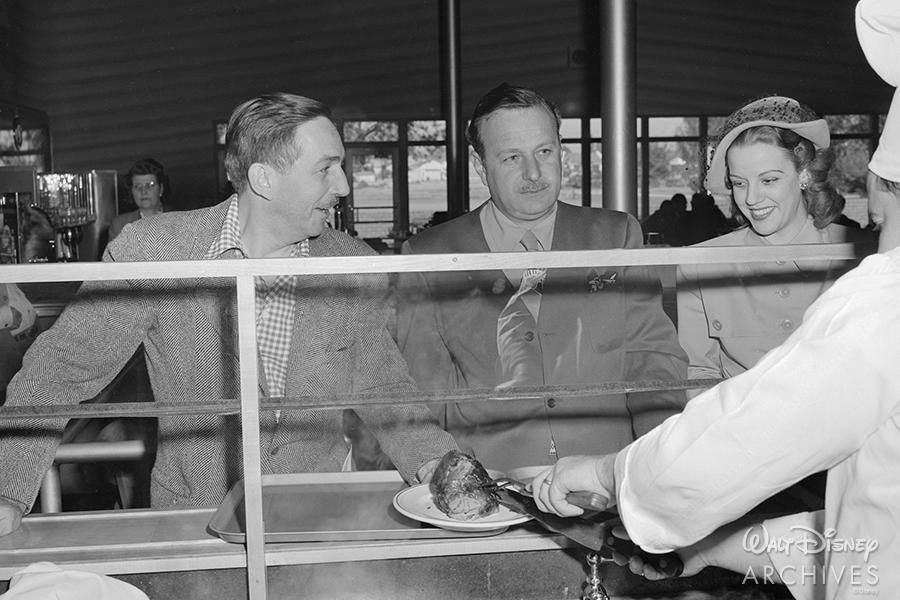 Walt Disney at the Studio Commissary