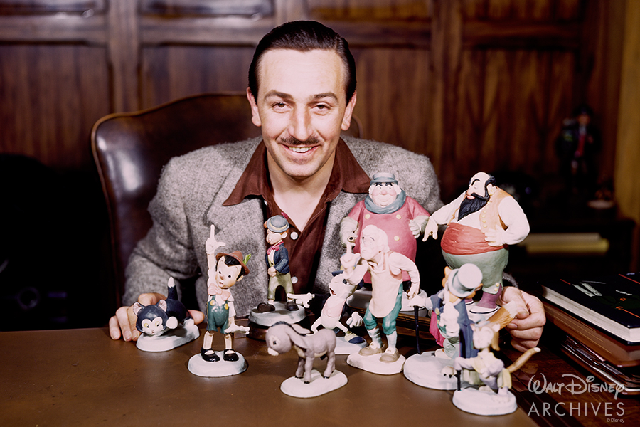 Walt with animator models