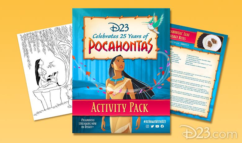 pocahontas activity book