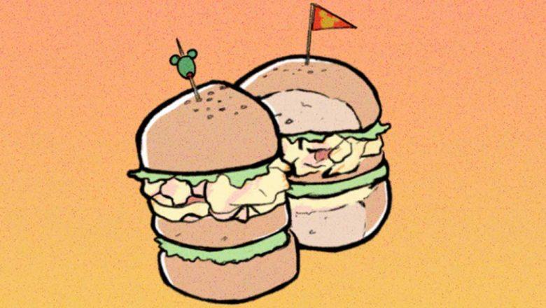 vintage tuna burger