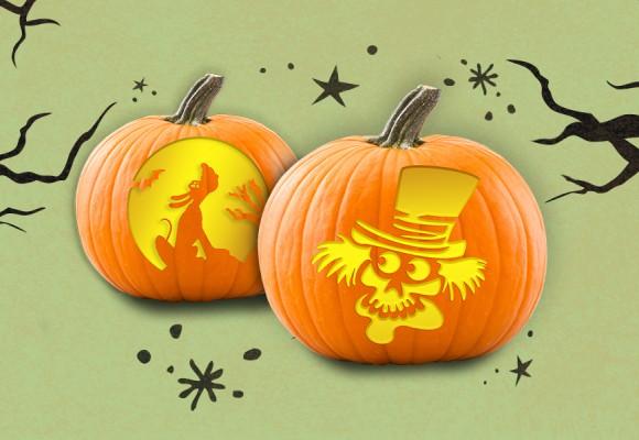D23 Halloween Hullabaloo Pumpkin Stencils