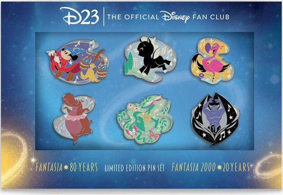 This D23-Exclusive Fantasia Pin Set Marks Musical Milestones!
