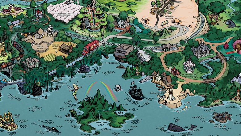 D23 Fantastic Worlds Map