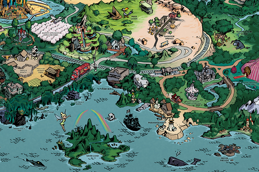 Fantastic Worlds Map