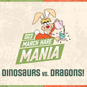 Vote in the D23 March Hare Mania 2021 Bracket to Determine Who Will Win: Disney Dinosaurs or Dragons?