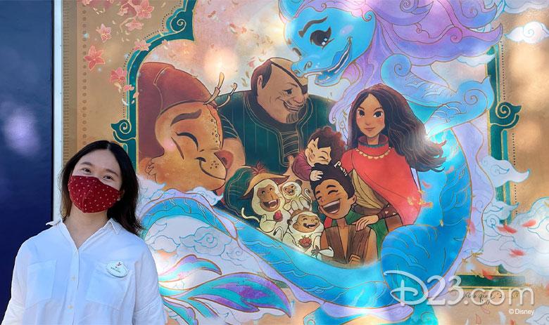 Raya at Downtown Disney