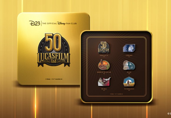 This D23-Exclusive Lucasfilm Pin Set Celebrates 50 Blockbuster Years!