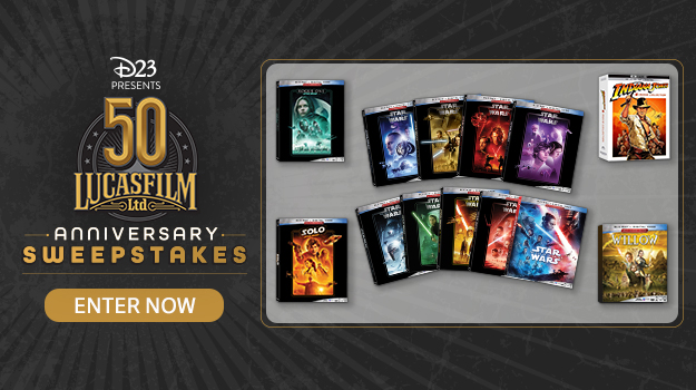 D23 Presents Lucasfilm 50th Anniversary Sweepstakes - Enter Now