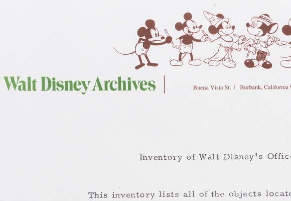 A Historical Legacy: The Beginning of the Walt Disney Archives