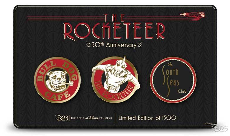the rocketeer pin set