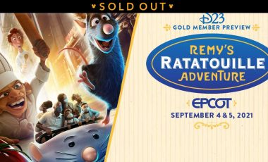 D23 Gold Member Preview—Remy's Ratatouille Adventure at EPCOT