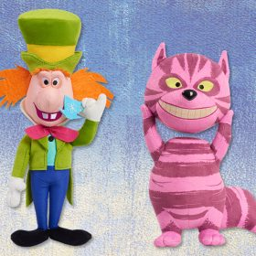 D23-Exclusive Alice in Wonderland by Mary Blair 70th Anniversary Plush—Cheshire Cat and Mad Hatter