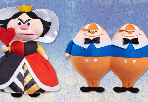 D23 Exclusive Alice in Wonderland by Mary Blair 70th Anniversary Plush — Queen of Hearts and Tweedle Dee & Tweedle Dum