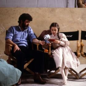 George Lucas and Fairuza Balk on the set of Return to Oz